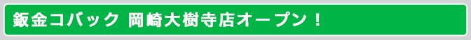 鈑金コバック 岡崎大樹寺店オープン!